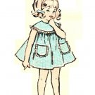 Advance 2846 Vintage 60s Toddlers' Dress and Pinafore - Patch Pockets Sewing Pattern