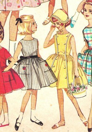 Simplicity 4924 Vintage Early 60s Girls 7 Day Wardrobe Of