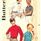 Butterick 2164 Vintage 60s Boys' Sport and Dress Shirt Sewing Pattern