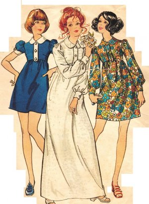 """Butterick 5718 Vintage 70s Designer Marcus Ors """"Young America Creates"""" Dress Sewing Pattern"""