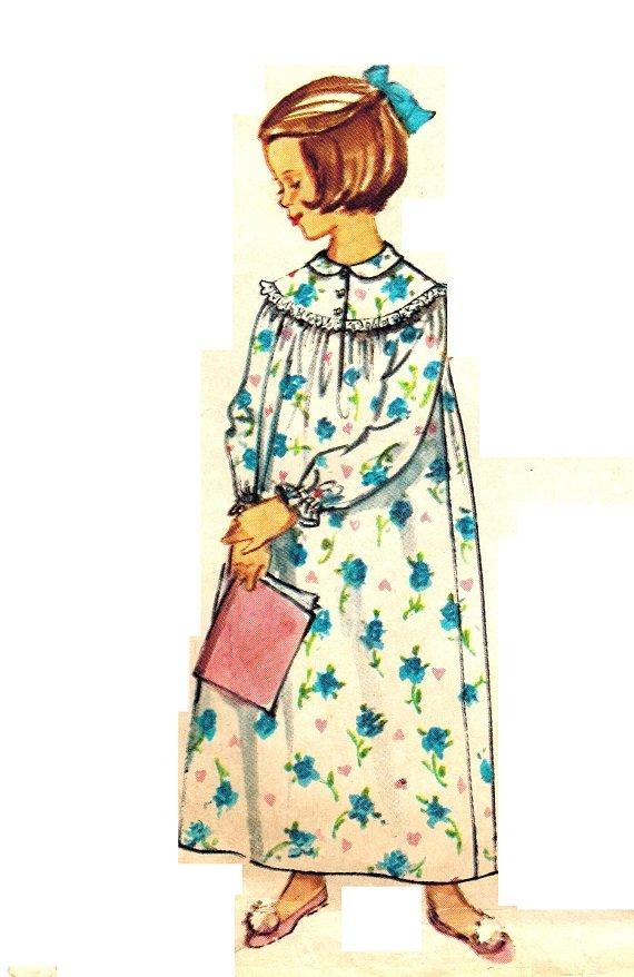 Simplicity 5552 Vintage 60s Mad Men Baby Doll Pajamas or ...