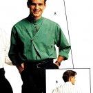 Burda 5605 Vintage 80s UNCUT & FF Mens Standing Collar Shirt Sewing Pattern