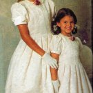 SImplicity 7462 UNCUT 90s Vintage Jessica McClintock Girls Tuck Pleated Dress Sewing Pattern