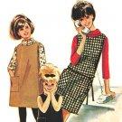 McCall's 6971 Vintage 60s Girls' Helen Lee design Dress or Jumper-Patch Pkt & T-Neck Sewing Pattern