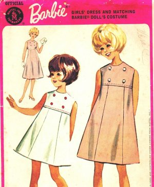 McCall's 7127 Vintage 60s Barbie Dress Sewing Pattern