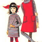 McCall's 8063 Vintage 1965, 1960s Girls' Dress or Blouse, Jumper and Tights