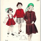 Butterick 5002 Vintage 40s Toddlers Two Piece Box Jacket Suit Sewing Pattern