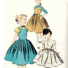 Advance 7759 Vintage 50s UNCUT Girls' Rockin' Pinafore Jumper and Demur Dress Sewing Pattern