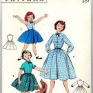 Butterick 7469 Vintage 50s Long Sleeved Shirt Dress Sewing Pattern