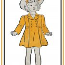 New York Pattern 1125 RARE Vintage 1930s Girls Coat - Super Cute Double Breasted Sewing Pattern