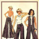 SImplicity 5611 UNCUT Vintage 70s Wide Leg Pants, Vest and Halter Top