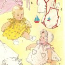 SImplicity 1443 Vintage 50s Baby Infant Newborn Layette Sewing Pattern One Size