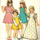 McCall's 3501 UNCUT Vintage 70s Girls Dress Pinafore Style  Princess Seams Sewing Pattern Size 6