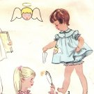 Simplicity 1824 UNCUT Vintage 50s Toddler Girls Nightgown & Pajamas Transfer Sewing Pattern Size 1