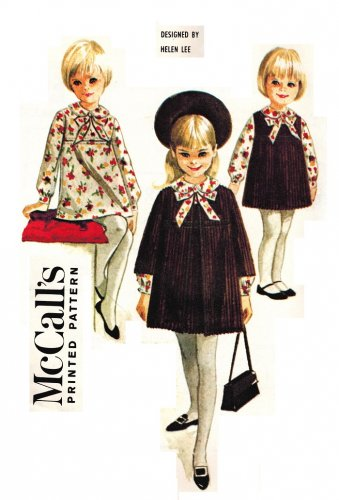 McCall's 7947 UNCUT Vintage 60s Helen Lee design Girl's Dress and Coat Sewing Pattern size 6X