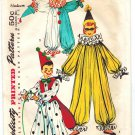 Simplicity 4864 Vintage 50s Childs CLown Costume Size Medium (4-6) Sewing Pattern