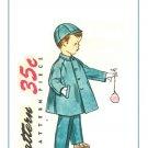 Simplicity 4455 UNCUT Vintage 50s Boys Raglan Sleeve Coat & Cap Hat - Sewing Pattern Size 6