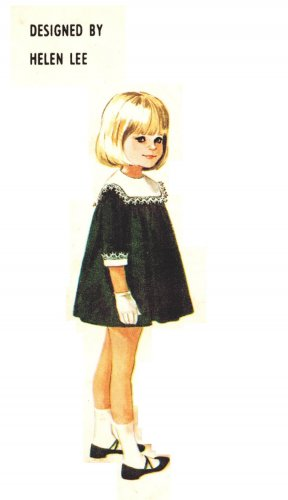 McCall's 7992 Vintage 60s Adorable Helen Lee design Dress Sewing Pattern