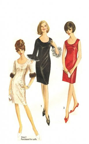Simplicity 6171 Vintage 60s Cocktail Dress Sewing Pattern Bust 34