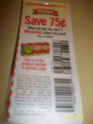 (10)   .75/1 Mariani Dried Fruit Snack
