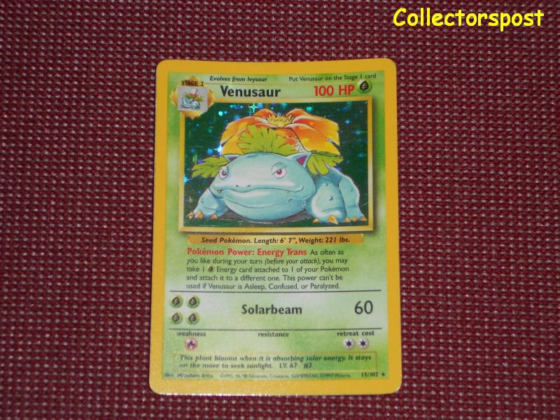 Pokemon Base Set Unlimited Venusaur Holo