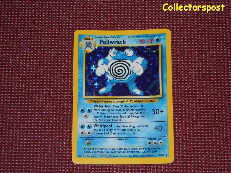 Pokemon Base Set Unlimited Poliwrath Holo