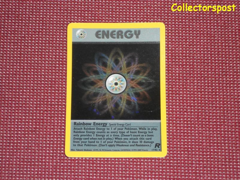 Pokemon Team Rocket Set Unlimited Rainbow Energy Holo