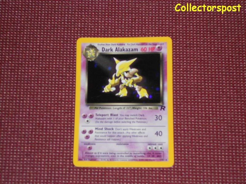 Pokemon Team Rocket Set Unlimited Dark Alakazam Holo
