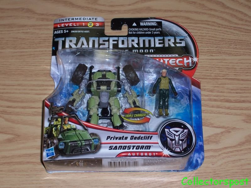 Transformers Dark of the Moon Mechtech Sandstorm Private Dedcliff