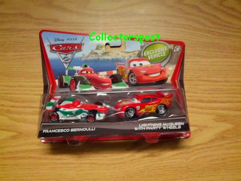 Disney Pixar Cars 2 2-pack Francesco Bernoulli and Lightning McQueen