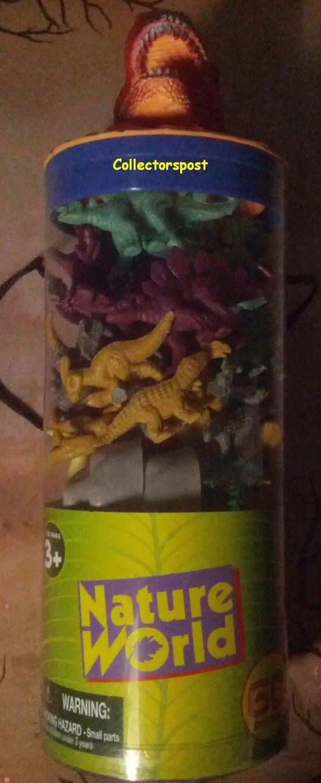 Nature World Dinosaurs tube 60 pieces Red dinosaur head