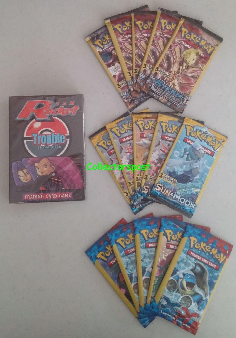 Pokemon Team Rocket Trouble Deck bundle
