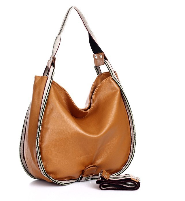 Faux Leather Ladies Handbag Totes Hobo WCYD0140 Brown / Red