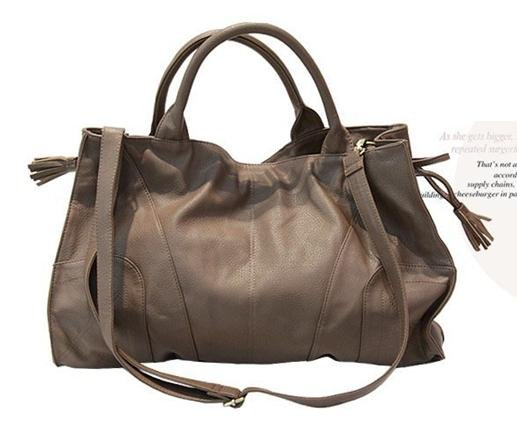 Ladies Handbag Tote Shoulder bag WCYD0200 Black / Beige