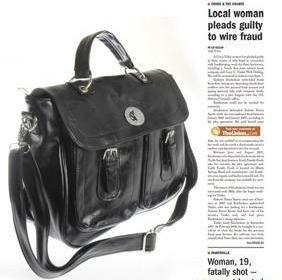 Faux Leather Messenger Shoulder bag WCYT0010 Black / Brown