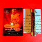 Takrut Amulet Takrud Buddha Pendant Wealth Phra Thai Talisman LP Aub Snake Skin