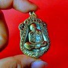 Thai Amulet Phra Buddha Wat Rare Pendant Charm LP Tim Rahanrai Coin Gold Wealth