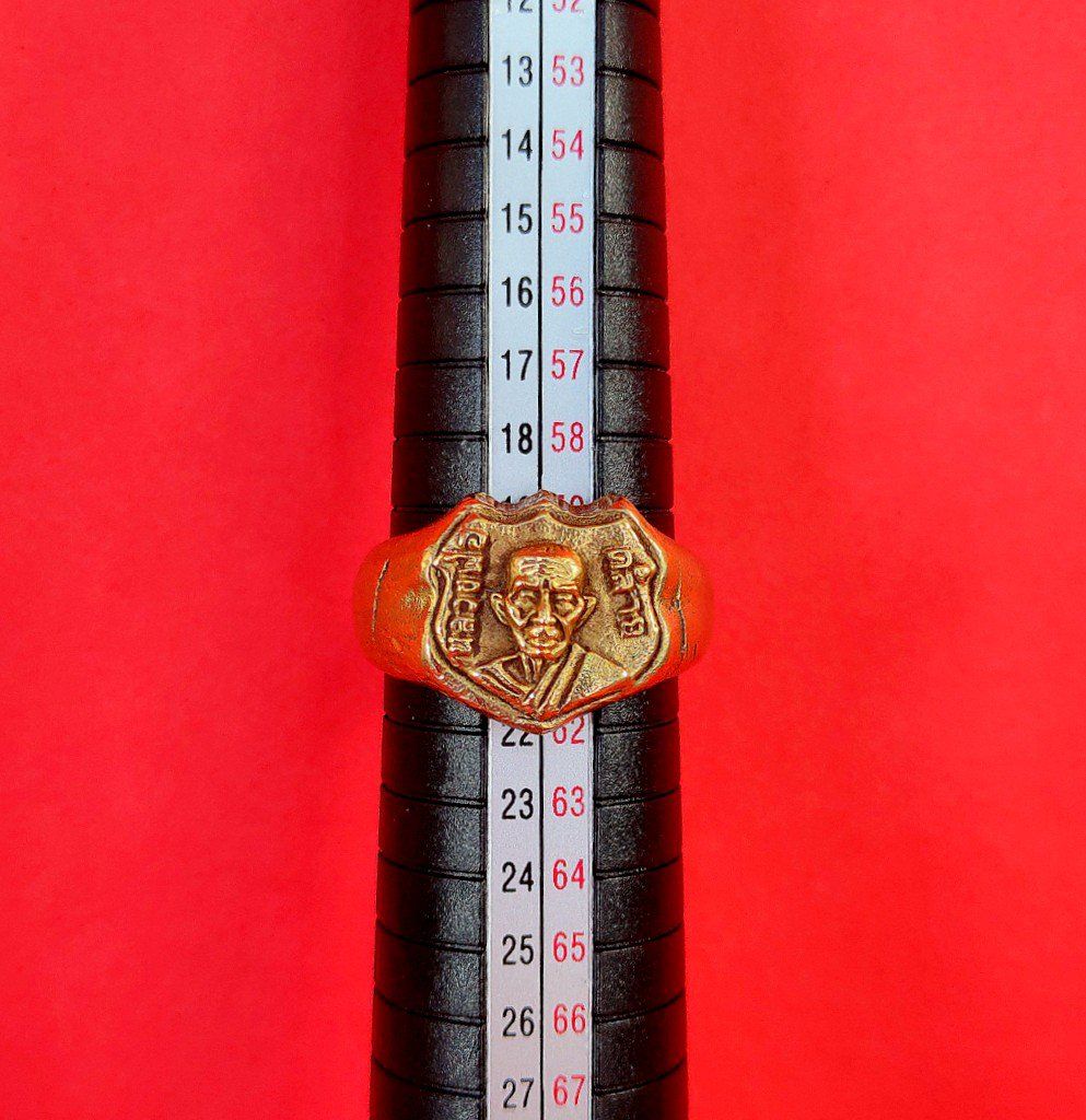 585 Ring Thai Buddha Amulet Phra Talisman Powerful Wealth LP Klay Yant Charm Old