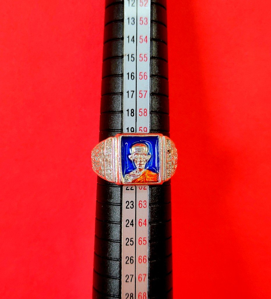 726 Ring Thai Buddha Amulet Phra Talisman Powerful Magic Wealth LP Ruay Tako 89