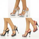 Mirrored Platform Shoes, Red Black or Silver, Sizes 5 - 13, Retail $130