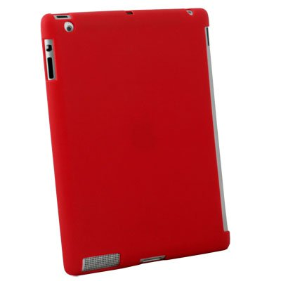 Red Smart Cover Companion TPU Case for Apple ipad 2