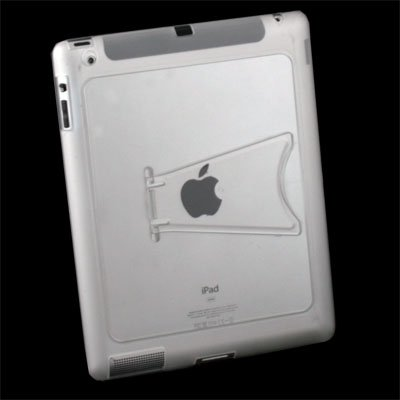 Clear TPU GEL Case with Stand for Apple IPAD 2 2nd Gen
