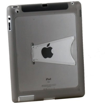 Gray Clear TPU GEL Case with Stand for Apple IPAD 2