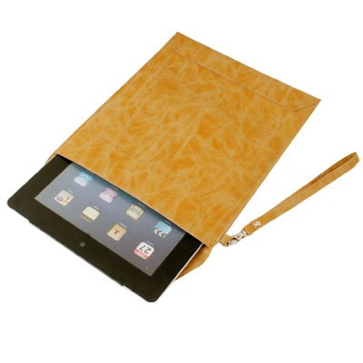 Khaki Leather Slip Sleeve Case Pouch For iPad 2 2nd Gen