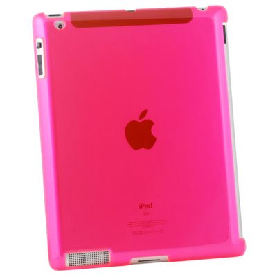Hard Case Work With Apple Smart Cover for iPad 2 Pink #6476#