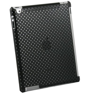 For iPad 2 Net Hard Case Work With Apple Smart Cover Black