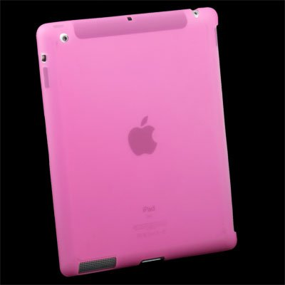 For iPad 2 Silicone Case Work With Smart Cover Pink