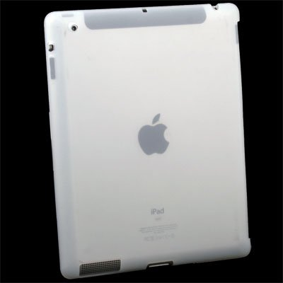 For iPad 2 Silicone Case Work With Smart Cover White #6465#