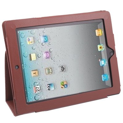 Stand Leather Case Cover For Apple iPad 2 iPad2 Brown