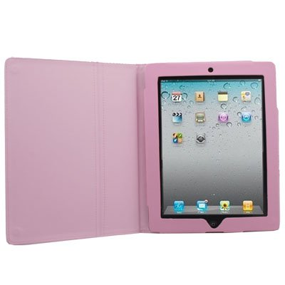 Stand Leather Case Cover Pouch Stand For Apple iPad2 Pink